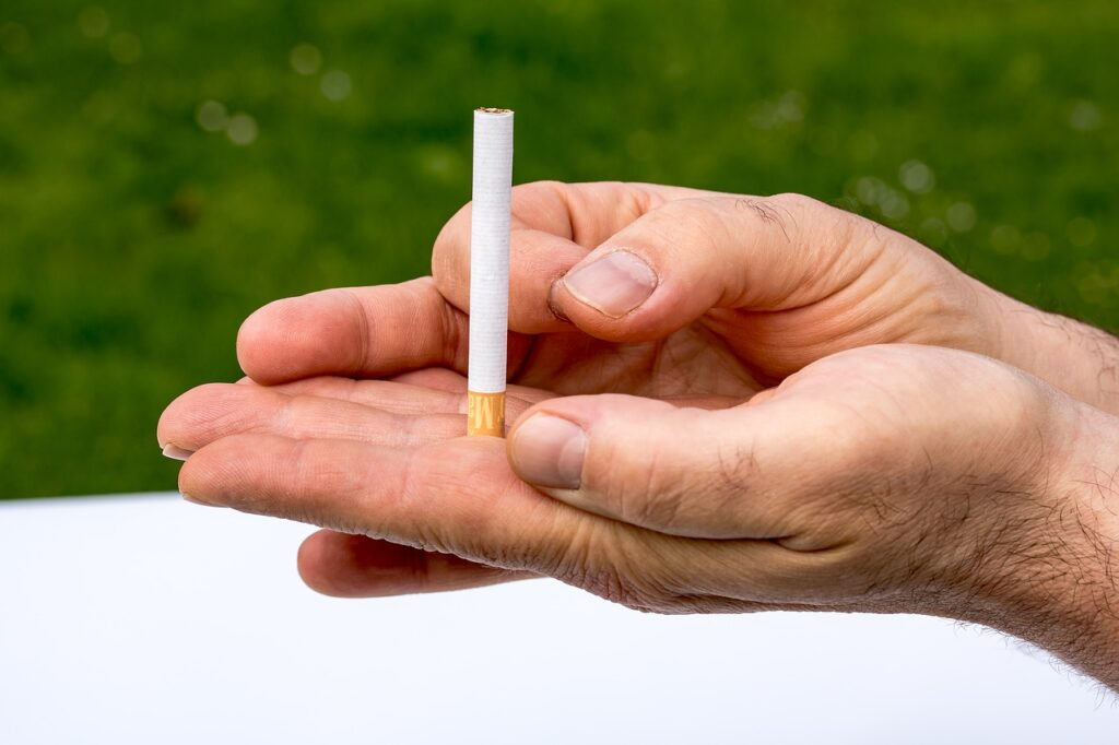 Smoking causes oxidative stress, which reduces sperm quality.